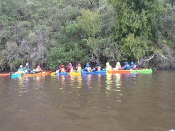 Scouts enjoy canoeing at AJ2010